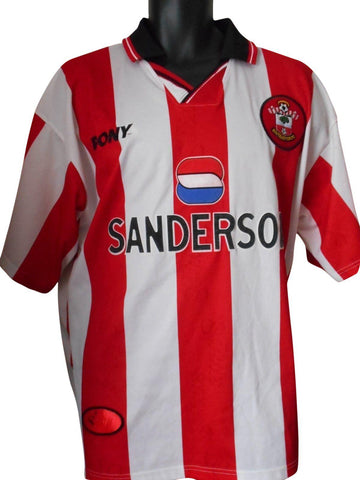 Southampton 1997-99 home shirt Large mens #S534.