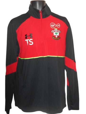 Southampton players training fitted jersey shirt Large mens #S788.-Classic Clothing Crib