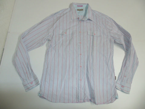 Ted Baker blue & pink stripes shirt - xxl mens size 6 - S3374