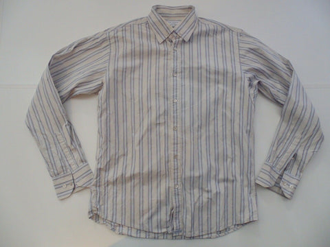 Ted Baker blue stripes shirt - large mens, size 4 - S5116