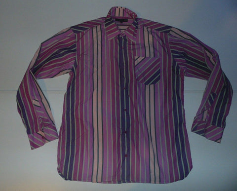 "Ted Baker pink stripes shirt 15.5"" / 39 medium Mens - S6045"