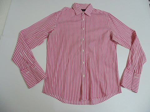 "Ted Baker pink stripes shirt 16"" / medium mens - S4791"