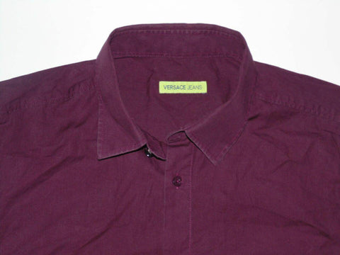 Versace Jeans purple shirt - medium mens - S5772-Classic Clothing Crib