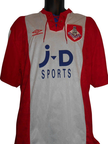 Oldham Athletic 1992-93 away shirt XL mens #S252.