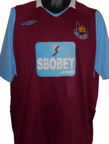 West Ham United 2008-09 home shirt XL Mens #S826.-Classic Clothing Crib