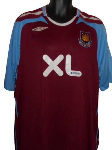 West Ham United 2007-08 home shirt XXL Mens #S827.-Classic Clothing Crib