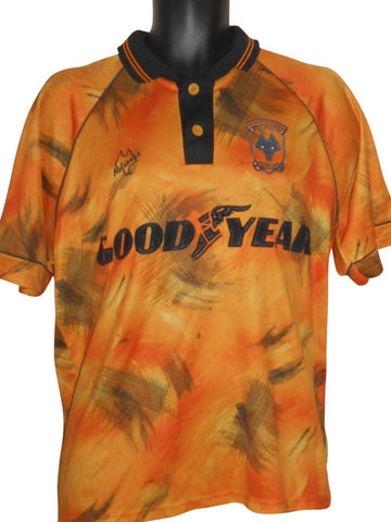 Wolverhampton Wanderers 1992-93 home shirt Large mens WOLVES #S620.-Classic Clothing Crib