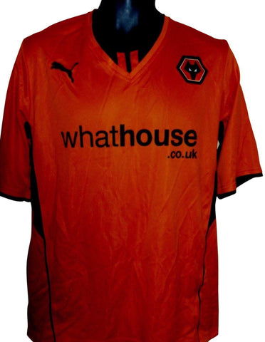 Wolverhampton Wanderers 2015-16 home shirt Large mens WOLVES #S252.