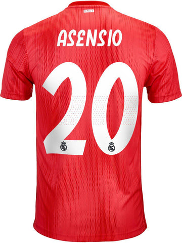mens Real Madrid 2018-19 third football shirt #ASENSIO 20-Classic Clothing Crib