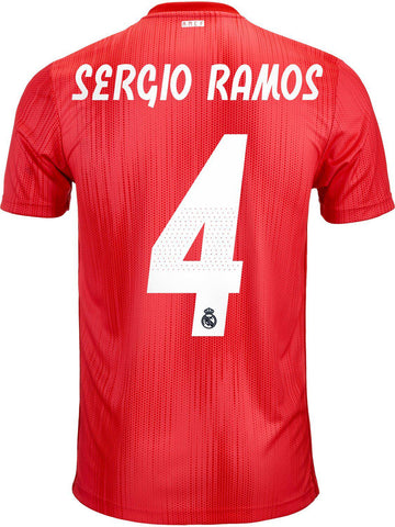 mens Real Madrid 2018-19 third football shirt #SERGIO RAMOS 4
