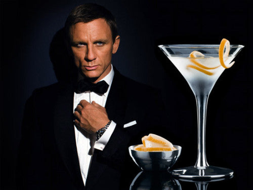 james bond with martini cocktail