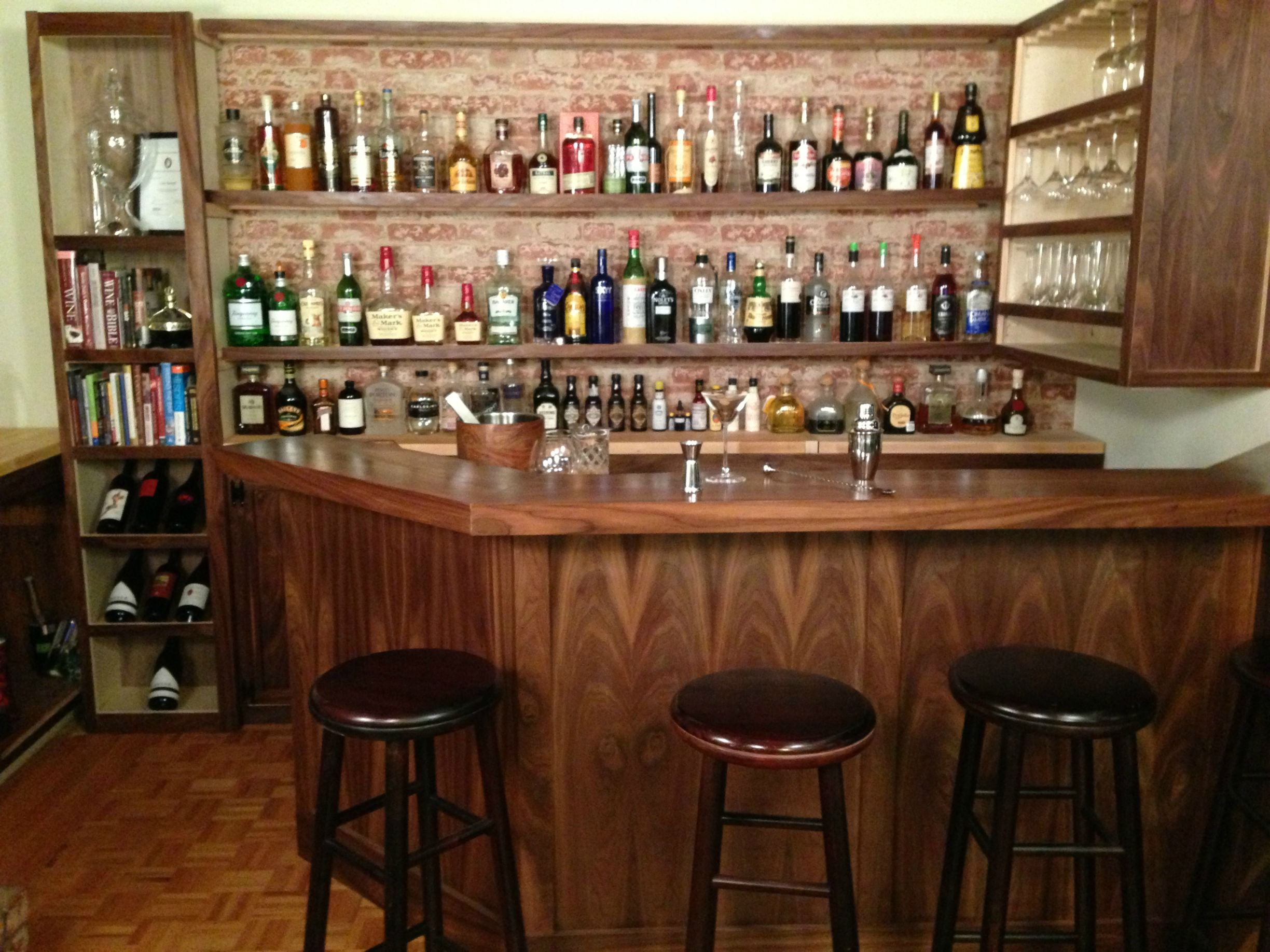 Home bar in man cave