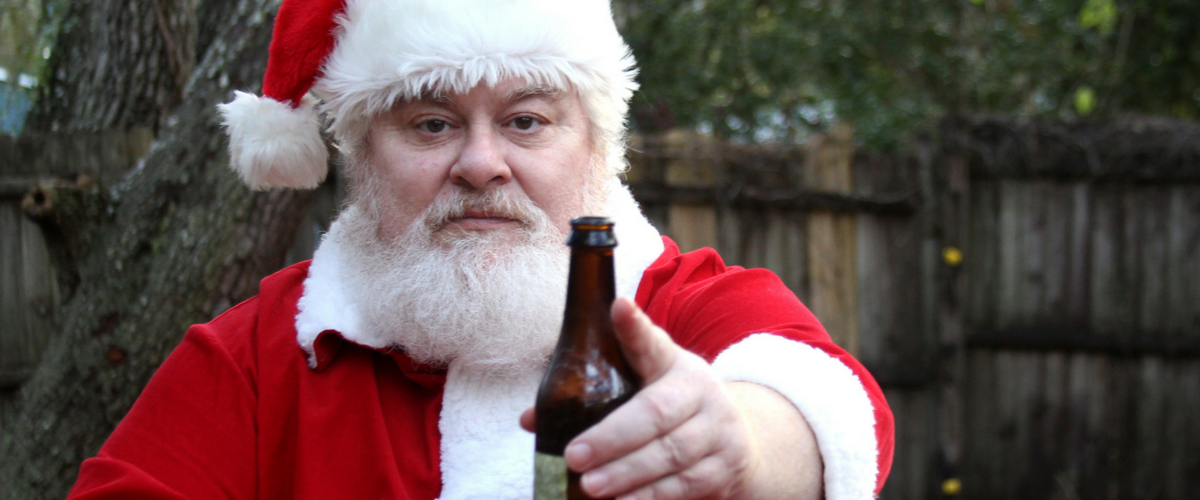santa claus christmas beer