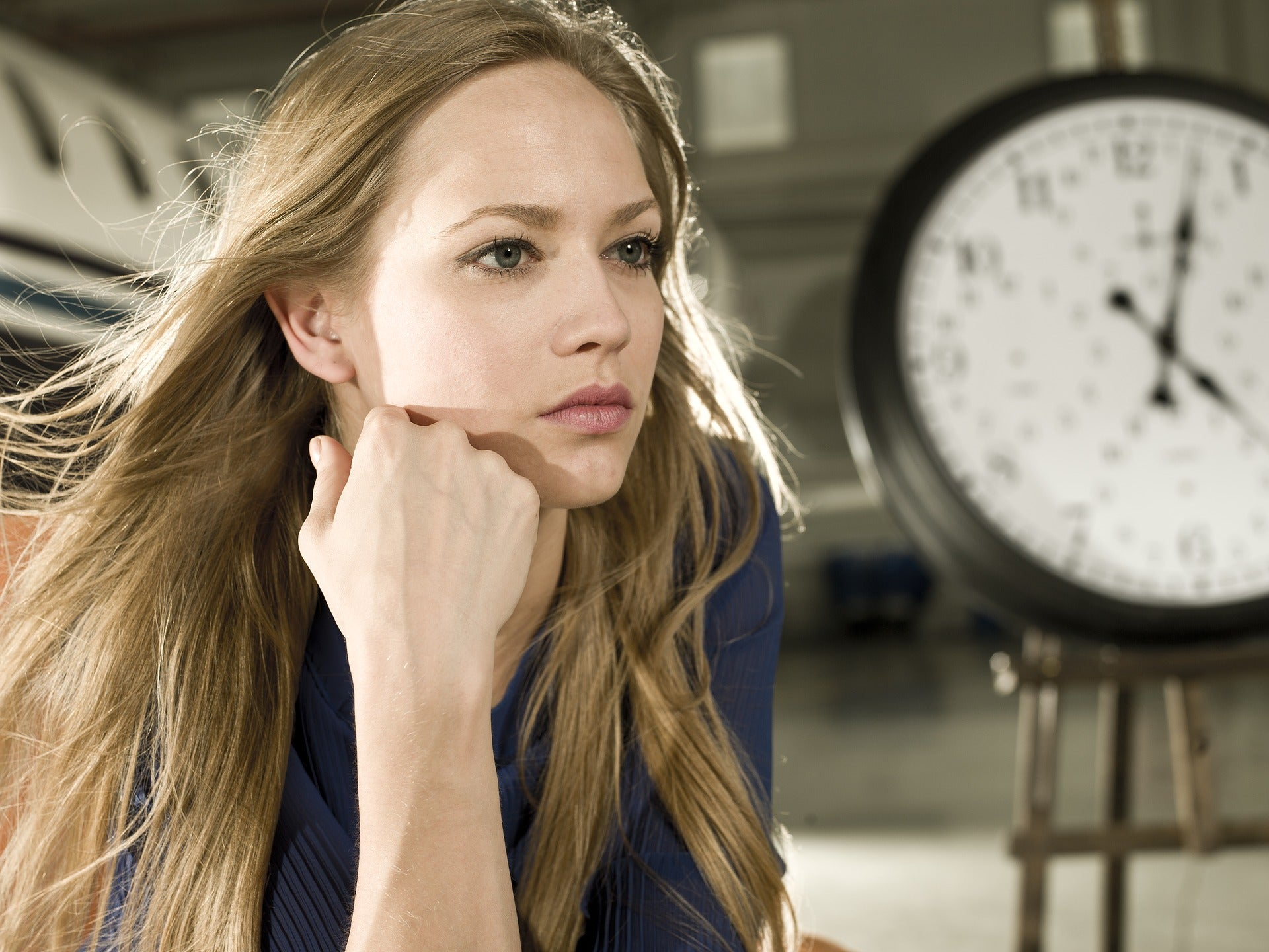 Woman wondering about time