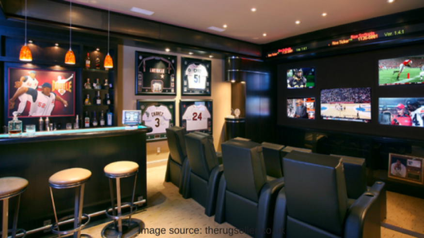 sports room man cave