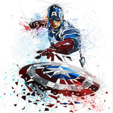 comic book legend captain america painting