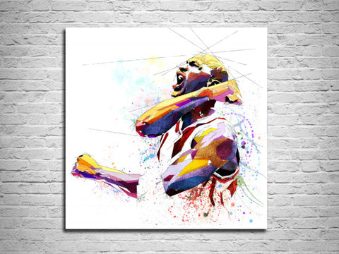 micheal 'air' jordan canvas print