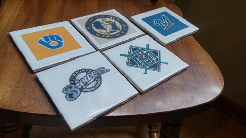 Milwaukee Brewers Drink Coaster Set