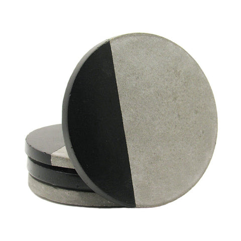 Black Concrete Bar Coasters