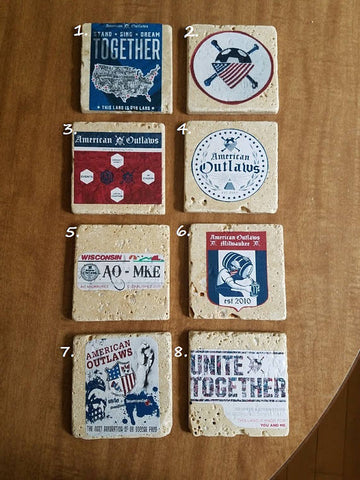 American Outlaw Drink Coasters