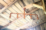 Copper Finished Rustic Chandelier