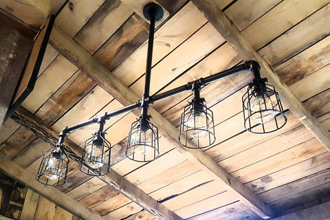 Long Rustic Chandelier