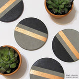 Accented Black Drink Coaster Set