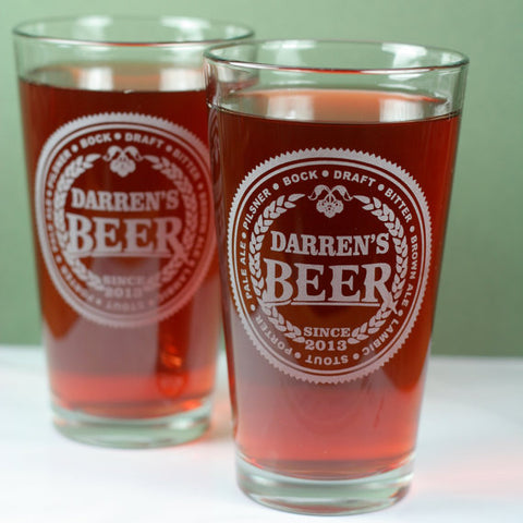 Personalized Beer Glasses