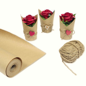 Kraft Paper - Wrapping Paper (30''x1200'') and Rope (2400'') - Blami Arts