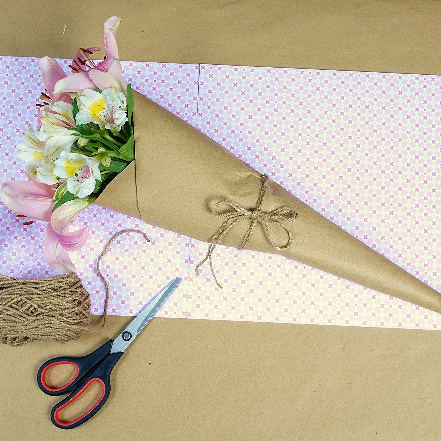 Brand-new Kraft Paper - Wrapping Paper (30''x1200'') and Rope (2400  SX94