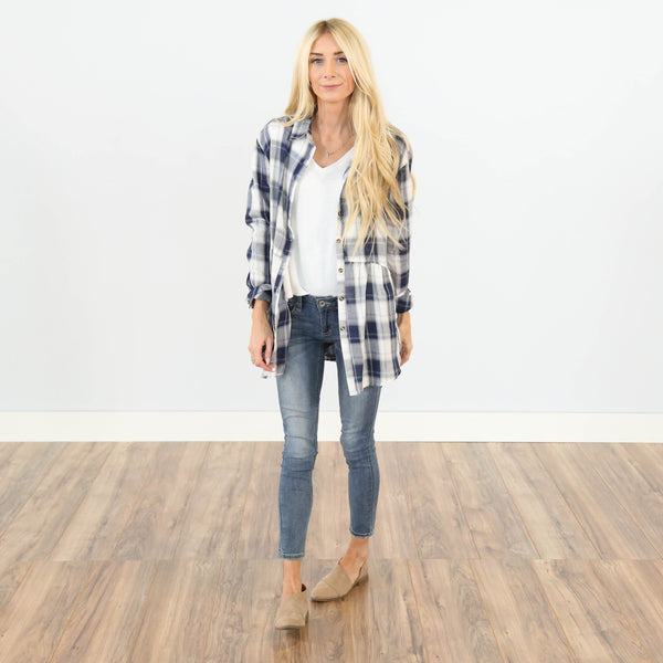 Addison Plaid Button Up