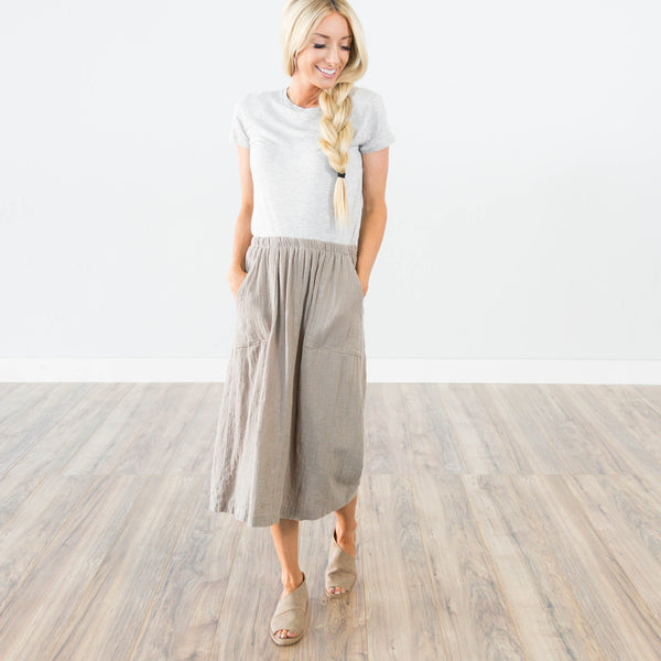 Callie Skirt in Khaki