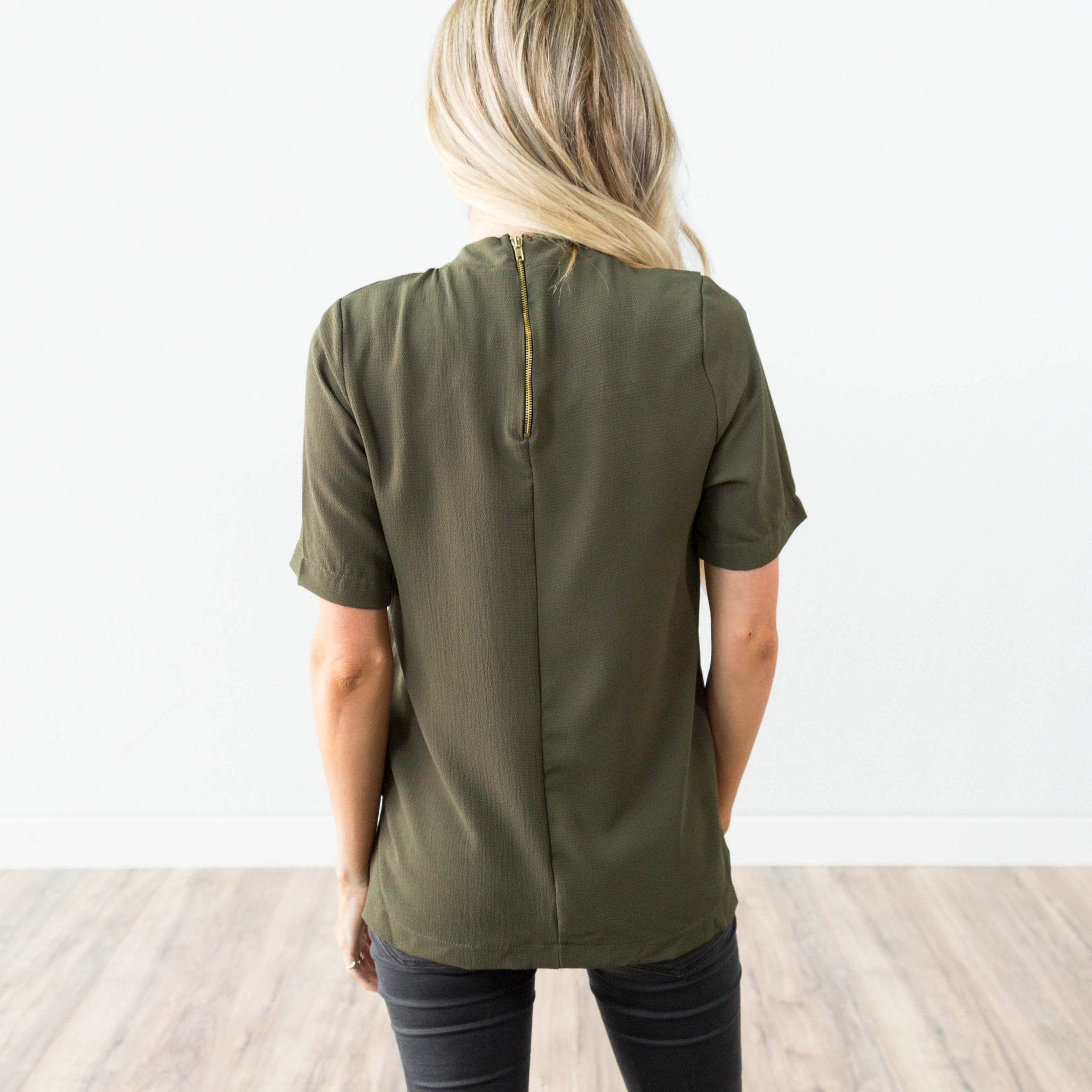 Sophie Top in Olive