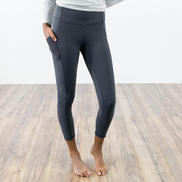Serena Active Leggings in Charcoal