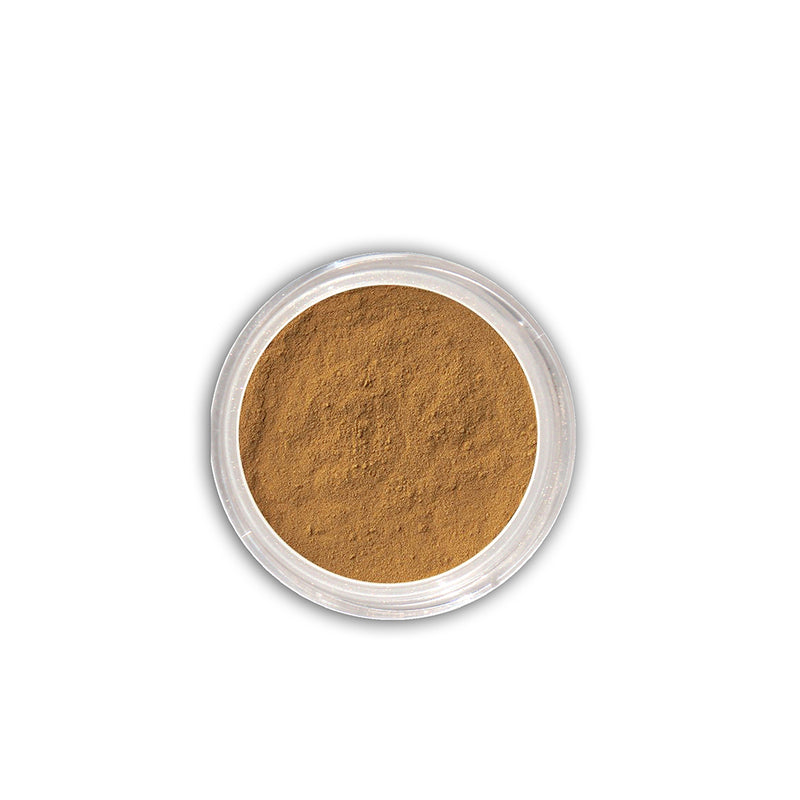 Foundation: Dark golden tan (mineral)