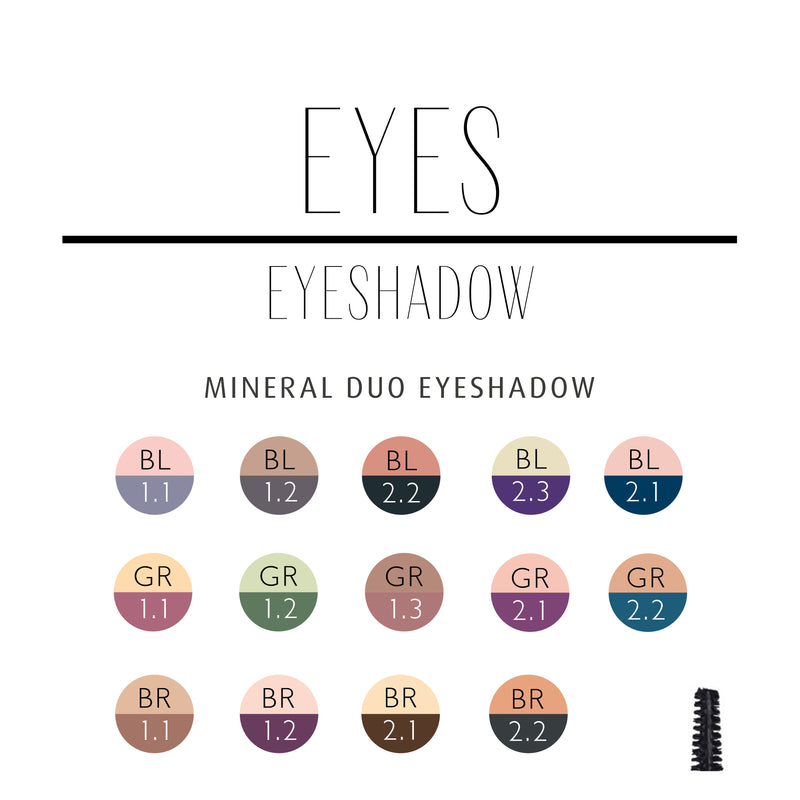 Mineral Duo Eyeshadow GR1.2 Miss Brazil