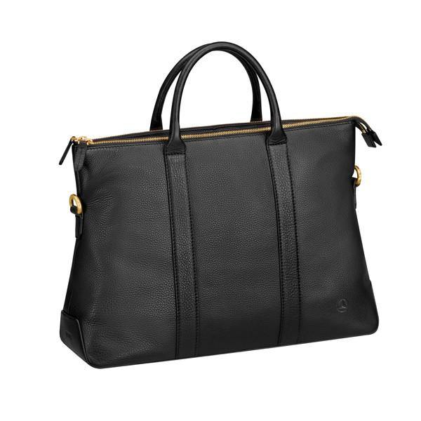 Handbag, Black Leather