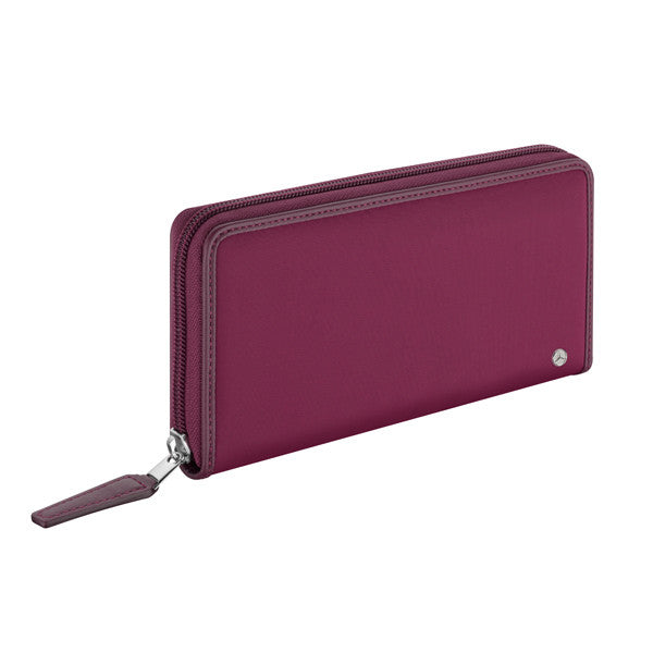 Women's Wallet, Plum, Nylon