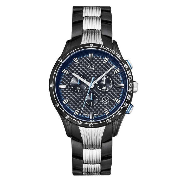 Men's Chronograph watch, Motorsport chronograph, Black