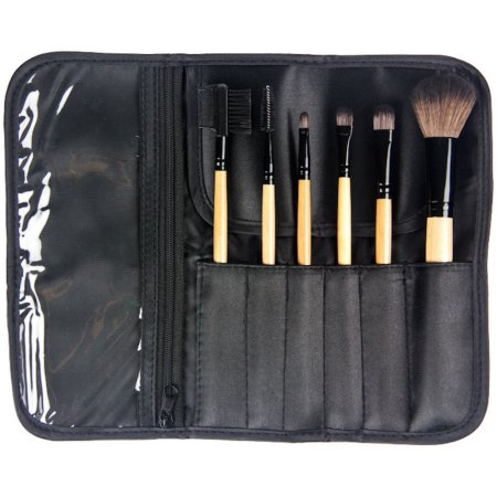 Crown Brush 6 piece Brush Set w/case