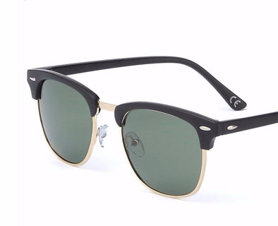 Polarized Retro Semi-Frame Sunglasses