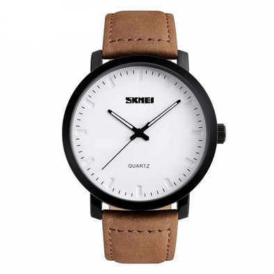 Classic Casual Leather Quartz Watch - streetboyz