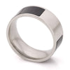 Black Enamel Stainless Steel Ring