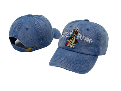 Love Basketball Embroidery Cap