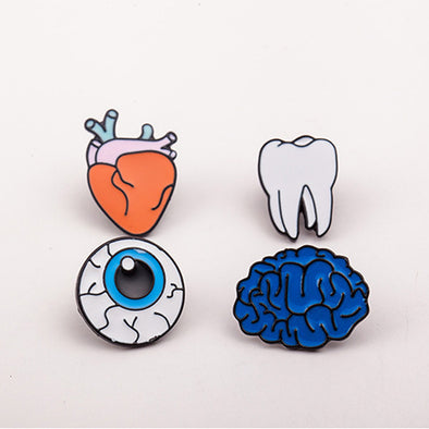 Human Body Enamel Pin