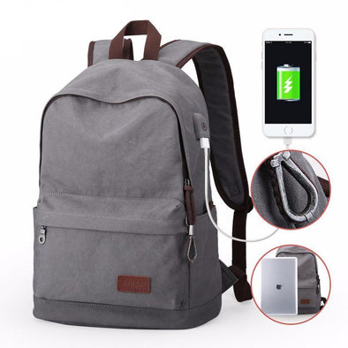 Classic Backpack With USB Port - streetboyz