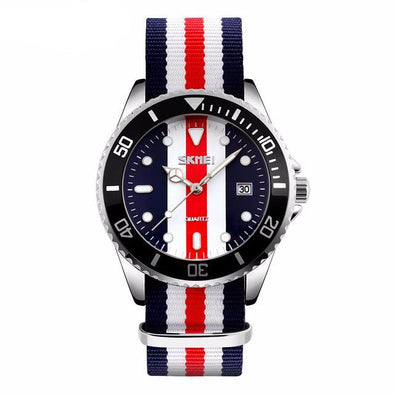 Stripes Nylon Band Casual Quartz Watch - streetboyz