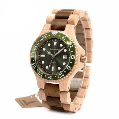 Wooden Quartz Watch With 100% Wood Strap - streetboyz