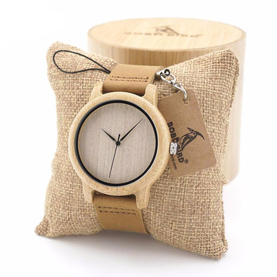 BOBO BIRD Mens Natural Wood Bamboo Watches Womens Vintage Wooden Watch With Genuine Leather Band - streetboyz