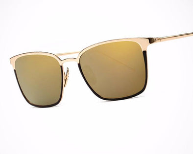 Two-tone Square Brief Frame Sunglasses
